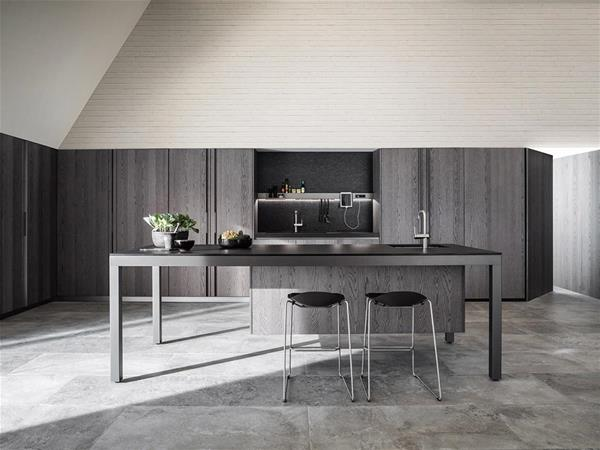 island kitchen designs black wood