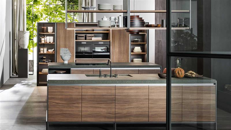 kitchen wood design Dada model vvd walnut doors