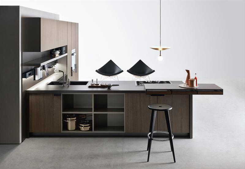 one of the best modern italian kitchens Indada by Nicola Gallizia a minimal wood and metal kitchen