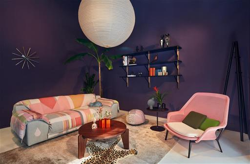 Vitra fuorisalone 2019 Milan Sag80 showroom Installation exhibition Eames chairs sofa rug